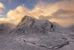The big old Buachaille etive Mor (chrismarr82) Tags: nikon scotland glencoe sunrise mountain river snow winter