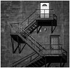 The White Door (Kool Cats Photography over 9 Million Views) Tags: stairs blackandwhite monochrome dark artistic doors white fireescape textures
