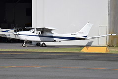 VH-MDG Cessna 210M Magspec Airborne Surveys (eigjb) Tags: jandakot airport perth wa ypjt australia western general aviation aircraft light airplane plane spotting january 2018 cessna cessna210 c210 survey magspec airborne surveys vhmdg vhyic beech baron