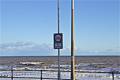 Hornsea sea front (brianarchie65) Tags: hornsea sea waves flamboroughhead bridlington railings ships ngc signs unlimitedphotos canoneos600d geotagged brianarchie65 skies sky clouds