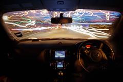 Lightspeed (46/365) (Rachael Webster UK) Tags: longexposure longexposurephotography canon650d canon car cartrail lighttrail project365 365project 365challenge ellesmereport driving fltofb