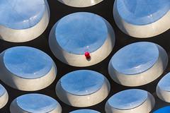 De rode ballon (Bart Weerdenburg) Tags: lookingup utrecht netherlands utrechtcs gemeenteutrecht art shapes circle abstract architecture