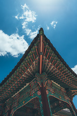 koreaaaaa (604-jpeg) Tags: korea temple seoul tourist tourism travel nikon d610 d600 nikond610 wideangle 20mm colour lightroom edit streetphotography blue sky color bluesky worship candid