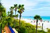 Hotel by the Beach (EtheFire) Tags: panama city beach hotel seagrass palm trees ocean sea sand