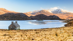 Sunshine at Stack (Stoates-Findhorn) Tags: 2018 scotland meallgarbh tathanambeann a838 ice mountains sutherland snow winter lochstack bothy meallanliathcoiremhicdhughaill unitedkingdom gb