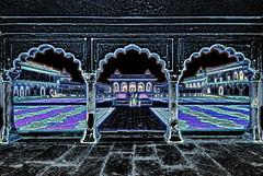 India - Uttar Pradesh - Agra - Agra Fort - Anguri Bagh (Mughal Garden) & Khas Mahal - 7dd (asienman) Tags: india uttarpradesh agra agrafort anguribagh mughalgarden khasmahal asienmanphotography asienmanphotoart
