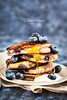 Stack of freshly prepared blueberry ricotta pancakes with fresh (Katty-S) Tags: pancake breakfast ricotta cheese blueberry sour cream honey sauce fresh berry hot dessert meal plate fried blue delicious sweet snack stack homemade gourmet morning traditional tasty lunch cake cuisine cooked sugar pastry golden nutrition cooking baked food eating buttermilk brunch fluffy hotcakes syrup