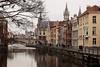 Flusslauf zur Stadt (Patrick Scheuch Photography) Tags: belgien belgium belgique gent stadt city cité fluss river fleuve architektur architecture städteerkundung travel holidays tourismus tourism ghent flandern