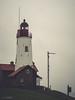Vuurtoren, Urk (Gerrit Veldman) Tags: dutch flevoland holland nederland netherlands urk lighthouse vuurtoren dorp village mist olympus epl7
