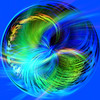 Fractal Circle Creation (dmeeds (on and off)) Tags: circle amazingcircle blue swirl