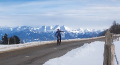 Wrong setting, grainy, but nice view (will_cyclist) Tags: cycling montblanc saleve snow