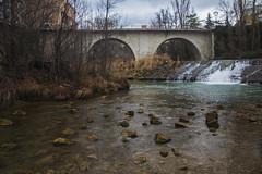In that one river (ponzoñosa) Tags: río river aquel cuenca jucar reino love bridge green water cascade winter autumn