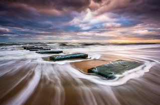Outer Banks North Carolina Beach Sunrise Seascape Photography OBX Nags Head NC