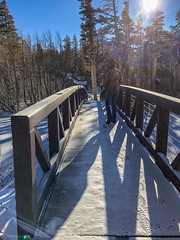 Morning walk (Diane Meade-Tibbetts) Tags: roadtrip twinlakes lakes mammothlakesca tamaracklodge snow