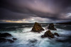 There May Be Trouble Ahead (Augmented Reality Images (Getty Contributor)) Tags: longexposure water coastline landscape storm scotland waves littlestopper canon nisifilters morayfirth portsoy seascape clouds rocks