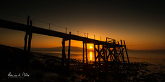 The Fire Within (RonnieLMills 5 Million Views. Thank You All :)) Tags: kinnegar jetty wooden pier sunset low tide holywood icon county down northern ireland greatphotographers