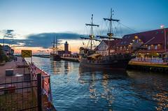 Harbour / Darłówko (ErrorByPixel) Tags: pentaxart samyang 16mm f20 ed as umc cs samyang16mmf20edasumccs pentax k5 pentaxk5 errorbypixel harbour darlowko ship water sea sky sunset lighthouse