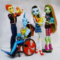 I choose you! (Mad Lynx) Tags: monster high doll dolls heath venus mcflytrap finnegan wake wheelchair frankie stein pokemon figure pikachu squirtle bulbasaur charmander