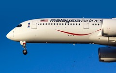 9M-MAC Malaysia Airlines Airbus A350-941 @ London Heathrow Airport, Hillingdon Borough. (D&C Aviation Photography) Tags: 9mmac malaysia airlines airbus a350941 london heathrow airport hillingdon borough a350 blue sky avgeek avgeeks airplane planes flying flight