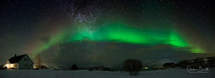 Du capteur à l'infini/From the sensor to infinity/Från sensorn till oänligheten (Elf-8) Tags: norway tromsø northernlight auroraborealis night sky house milkyway