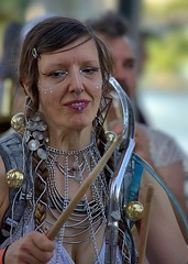Drummer Girl (Scott 97006) Tags: woman musician drummer costume gigi band marching entertainer chains
