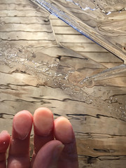 IMG_5477psd (LooknFeel) Tags: takenwithiphone iphone6 20180226 • ice fingertips fractures