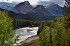 Beautiful Mountain Peaks Caught in the Late Afternoon Sunlight as a Backdrop for Morant's Curve (Banff National Park) (thor_mark ) Tags: albertaprovincialhighwayno1a atmorantscurve banffnationalpark banfflakelouisecorearea bowrange bowriver bowvalleyparkway canadianpacificrailway canadianpacificrailwaytrack canadianrockies capturenx2edited colorefexpro continentaldivide day3 evergreens fairviewmountain hillside hillsideoftrees hillsides landscape lookingwest lookingtocontinentaldivide lookingtomountainsofthecontinentaldivide morantscurve mountainvalley mountains mountainsindistance mountainsoffindistance nature nikond800e outside overcast portfolio project365 railline railroad railroadtracks railwaytracks river rockymountains saddlemountain sheolmountain southerncontinentalranges traintracks trees triptoalbertaandbritishcolumbia alberta canada