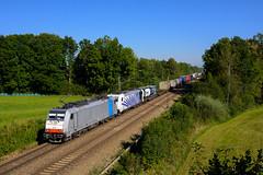 186 251 + 185 662 (139 310) Tags: lokomotion baureihe 186 kbs np tec43125 evu 185 railpool tec zugnummer 186251 deutschland 185662 kbs950 groskarolinenfeld bayern de