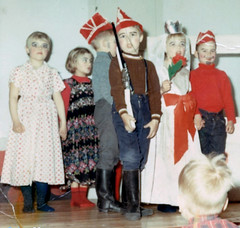 The Group (theirhistory) Tags: boy children kid stage trousers jumper wellies dress girl hat wellingtons