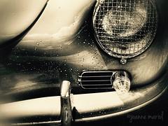Sunday Drive: Sun/Shower (joannemariol) Tags: iphoneography iphone7plus snapseed phonto classiccar classiccarphotography vintage vintageautomobile retro porsche headlight headlamp chrome