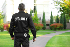 On Demand Security Guard App (v3cube technolabs) Tags: back background baton black bodyguard business control crime danger defense duty employee event green guard guardian handcuffs jacket male man muscular officer outdoor park patrol person police policeman prevention profession professional protect protection radio safe safeguard safety secure security service standing street strength supervise supervision text uniform watching worker