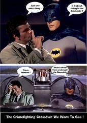 BATMAN 1966 & COLUMBO The Crime Fighting Crossover We Want To See (DarkJediKnight) Tags: batman 1966 peterfalk columbo adamwest batmobile humor parody spoof fake