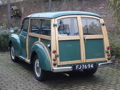 1965 Morris Minor Traveller (harry_nl) Tags: netherlands nederland 2018 amerongen morris minor traveller fj7694 sidecode1