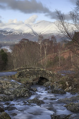 Ashness Bridge (andyrousephotography) Tags: lakedistrict keswick derwentwater lake ashnessbridge stream waterrocksands skiddaw fells hills walkers ramblers crisp winter cold snow longexposure leefilters 06ndmedgrad 10stops bigstopper andyrouse canon eos 5d3 5dmkiii ef24105mmf4l