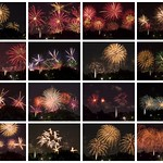 Collage of Fireworks Photographs - Australia Day 2018 - Barton - ACT - Australia - 20180126 @ 21:00 to 21:13 thumbnail