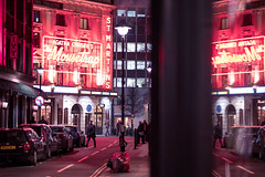 St Martin's Theatre ({Laura McGregor}) Tags: stmartinstheatre theatre themousetrap neon neonlights neonsign litchfieldstreet street night reflection soho sevendials evening fuji fujifilm fujixpro2 xpro2 56mm window illuminated city urban