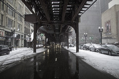 Pathways (aerojad) Tags: eos canon 80d dslr 2018 winter outdoors chicago snow snowing cold cityscape streetphotography streetscape theloop cta thel