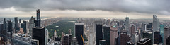 New York Panorama. (Oleg.A) Tags: usa newyork building rockefellercenter nature city cityscape panorama evening town clouds summer colorful architecture skyscape outdoor metropolitain megalopolis cloudy metro nyc america outdoors