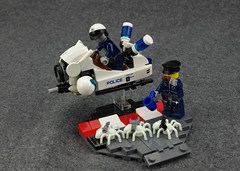 Officer Delta-Vee and Unit 38 (Deltassius) Tags: lego moc speederbike flying motorcycle district 18