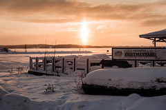 Iisalmi (Tuomo Lindfors) Tags: iisalmi finland suomi ravintola restaurant olutmestari lumi snow aurinko sun auringonlasku sunset alienskin exposure myiisalmi