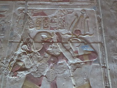 Seti & Horus, Abydos (Aidan McRae Thomson) Tags: abydos temple egypt carving relief ancient egyptian