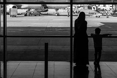 """""""We are such stuff as dreams are made on"""" (Özgür Gürgey) Tags: 2017 50mm atatürkairport bw d750 nikon shakespeare airport architecture frame geometry grainy people reflection silhouette street istanbul twogether smileonsaturday"""
