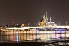 Deutzer Brücke Kölner Hochwasser Januar 2018