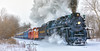 """The Pere Marquette 1225 """"North Pole Express"""" (Craig - S) Tags: peremarquette polarexpress snow train travel winter peremarquette1225 northpoleexpress pm1225 steamrailroadinginstitute owosso michigan ashley countrychristmas steamlocomotive peremarquetterailway limalocomotiveworks greatlakecentralrailroad snowing steam coal smoke carlandelevator tourism transport transportation railway rail railroad engine track locomotive nature cold white season steel historic outdoor sky"""