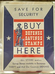 "WWII WAR SAVING STAMPS POSTER.  $125. • <a style=""font-size:0.8em;"" href=""http://www.flickr.com/photos/51721355@N02/38730198245/"" target=""_blank"">View on Flickr</a>"