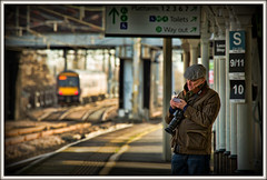 A spot of admin (david.hayes77) Tags: portrait johnwoolley photographer nuneaton warks warwickshire westmidlands class170 railfan 2018 flickrmember flickrite railphotographer 40thanniversary candid humanity people folk notetaker snapper nuneatontrentvalley