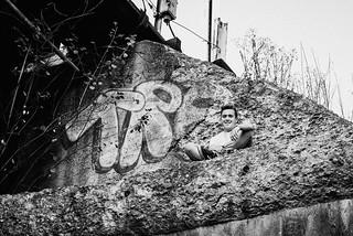 Pittsburgh Senior Pictures male Chuckie Yinzseniors riverwalk millvale grunge (5)