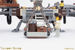 06_Cargo (LegoMathijs) Tags: lego moc legomathijs steampunk mine transport airship crane cargo pickaxe ore trade propellors steampowered space scifi minifig exhaust miners mining discovering discovery