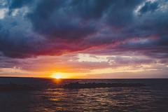 Nordic sunset (Éole) Tags: sweden helsingborg sunset sea detroit oresund europe