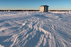 Ice fishing house on Fishhook Lake at sunset, Park Rapids MN (Lorie Shaull) Tags: parkrapids minnesota winter icefishing fishhooklake